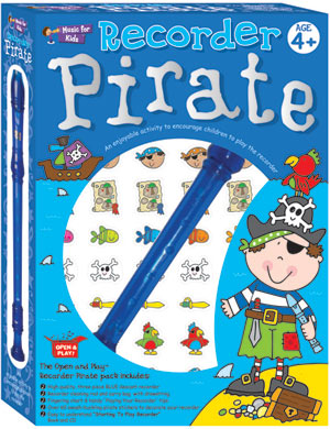 Recorder Pirate Set.  An ideal gift pack for children