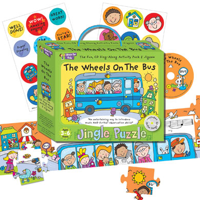 Activity music pack for 3 to 6yrs - Wheels on the Bus