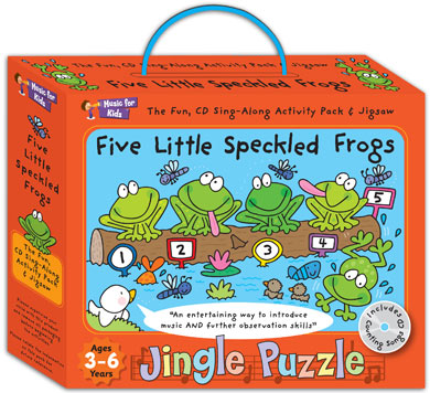 Activity music pack for 3 to 6yrs - Five Little Speckled Frogs