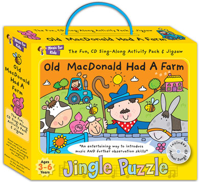 Activity music pack for 3 to 6yrs.- Old MacDonald Had a Farm