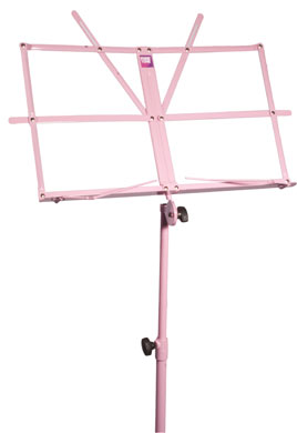 Coloured music stand with carry bag- PINK