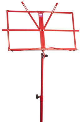 Coloured music stand with carry bag RED