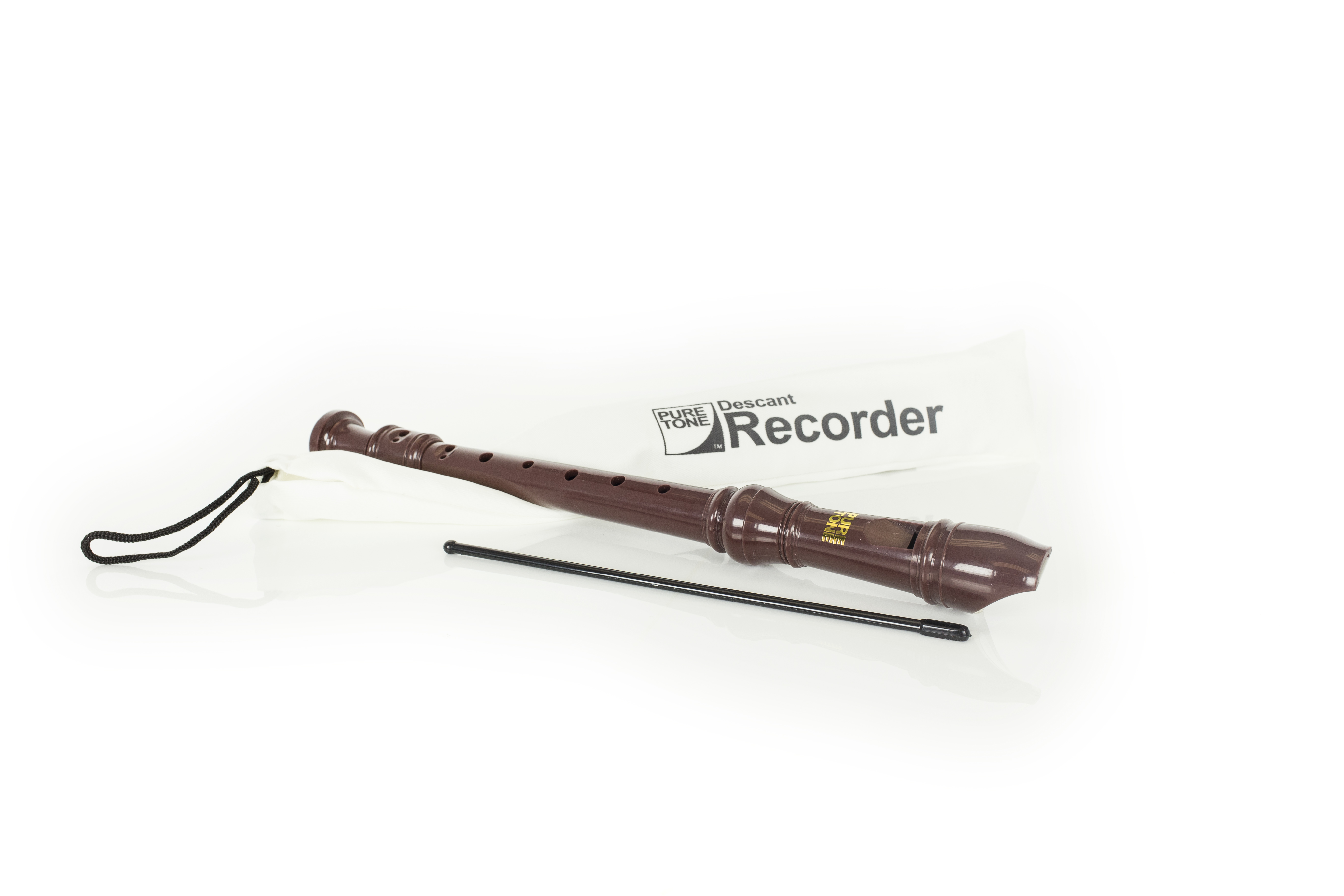 Coloured Recorder (BROWN) with Downloadable Tutor book & Music